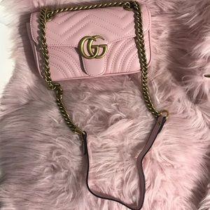 Handbags - Gucci marmont pink bag